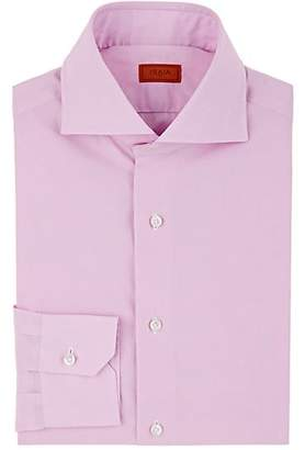 Isaia MEN'S MICRO-CHECKED COTTON DRESS SHIRT - PINK SIZE 17.5 L