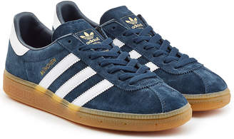 adidas blue suede shoes di uomini shopstyle uk