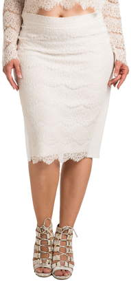 Standards & Practices Tori Lace Overlay Pencil Skirt