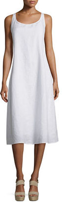 Eileen Fisher Sleeveless Linen Scoop-Neck Tank Dress $248 thestylecure.com