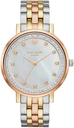 kate spade new york Women's Monterey Three-Tone Stainless Steel Bracelet Watch 38mm KSW1143 $295 thestylecure.com