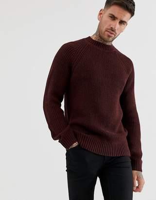 84ffa3447ad4b5 New Look raglan jumper in burgundy