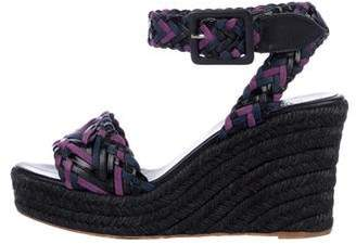 Hermes Suede Braided Wedges