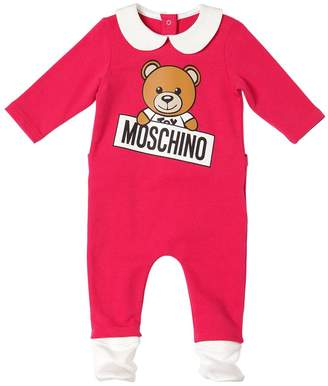 Moschino Toy Logo Printed Cotton Romper