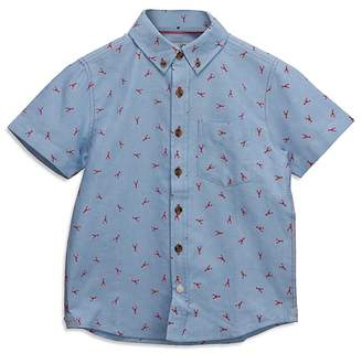 Sovereign Code Boys' Chambray Lobster-Print Shirt - Big Kid