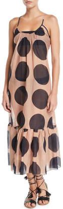 Stella McCartney Ballet Dots Flounce Coverup Maxi Dress