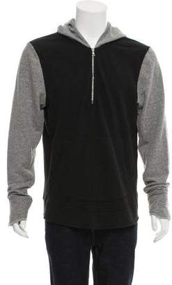 John Elliott + Co Two-Tone Half-Zip Hoodie