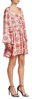 Elizabeth and James Women's Aga Toile Floral-Print Silk A-Line Dress