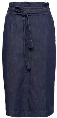 Banana Republic Paper-Bag Waist Denim Skirt