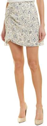 Derek Lam 10 Crosby Ruched Silk A-Line Skirt