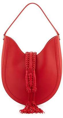 Altuzarra Ghianda Small Leather Hobo Bag, Red