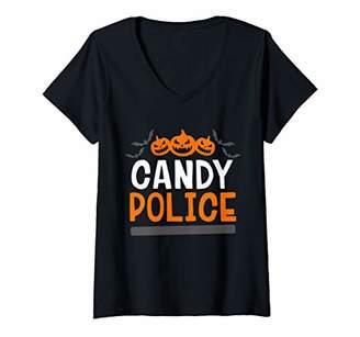 Womens Halloween Kids Boys Girls Trick Or Treat Costume V-Neck T-Shirt