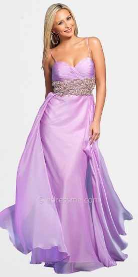 Dave and Johnny Wide Belted Prom Dresses