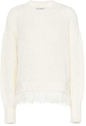 Philosophy di Lorenzo Serafini Feather-trimmed wool-blend sweater