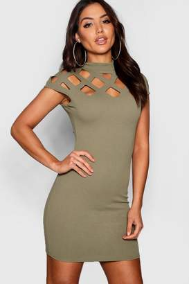 boohoo Cut Out Neck Bodycon Dress