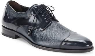 Mezlan Men's Pebbled & Patent Leather Oxfords