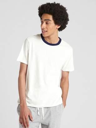 Gap Short Sleeve Contrast Crewneck T-Shirt