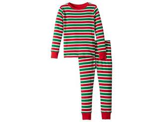 Hatley Holiday Stripe Organic Cotton Pajama Set (Toddler/Little Kids/Big Kids)