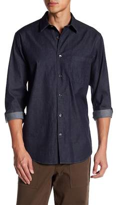 Theory Point Collar Front Button Woven Shirt
