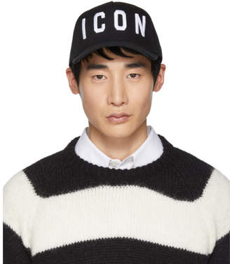 DSQUARED2 Black and White Icon Baseball Cap