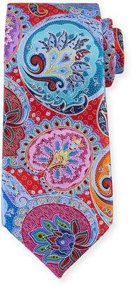 Ermenegildo Zegna Paisley-Medallion Printed Silk Tie $385 thestylecure.com