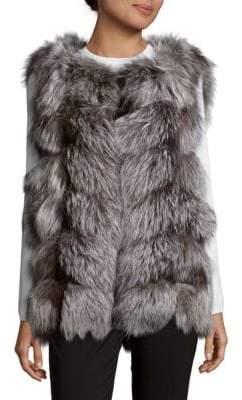 La Fiorentina Fluffy Fox Fur Vest