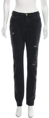 Current/Elliott Straight-Leg Distressed Jeans