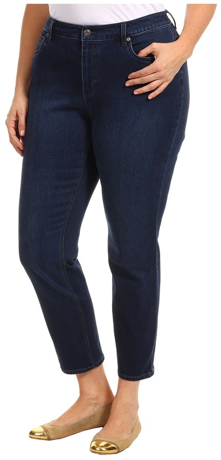 Vince Camuto TWO by Plus Size Straight Leg Jean in Dark Rinse (Dark Rinse) - Apparel