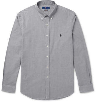 Polo Ralph Lauren Slim-Fit Button-Down Collar Gingham Cotton-Poplin Shirt