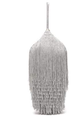 Hillier Bartley - Lantern Fringed Leather Clutch - Womens - Silver