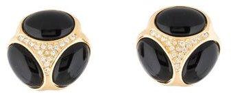 Christian Dior Christian Dior Crystal Clip-On Earrings