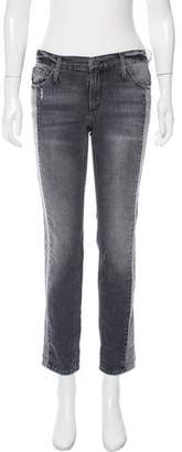 Black Orchid Distressed Mid-Rise Jeans