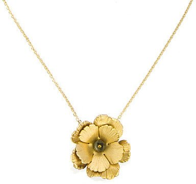 Citrine By The Stones Rosa Pendant Necklace, Green Tourmaline