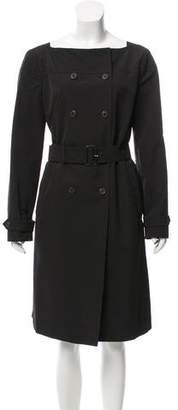 Prada Belted Double-Breasted Coat