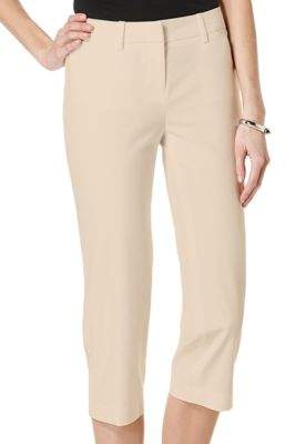 Rafaella Petite Double Weave Curvy Capri Pants