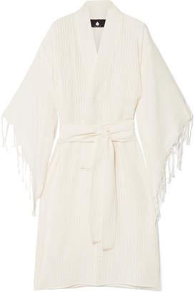 SU Paris - Kimo Fringed Cotton-gauze Kimono - Ecru
