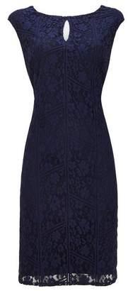 Wallis Navy Lace Shift Dress