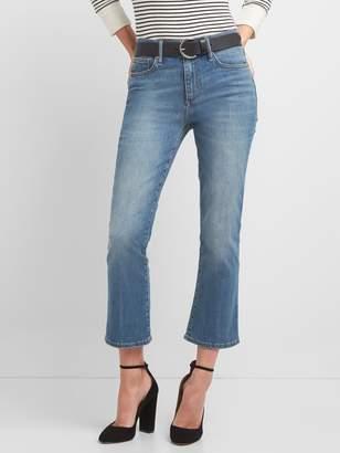 Gap Washwell High Rise Crop Flare Jeans
