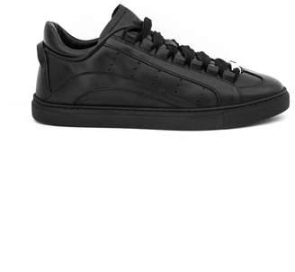 DSQUARED2 551 Sneakers In Black Calfskin.