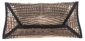 VBH Alligator Manila Clutch