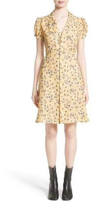 Women's Junya Watanabe Floral Chiffon & Lame Shirtdress $795 thestylecure.com