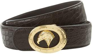 Stefano Ricci Eagle Buckle Croc Belt