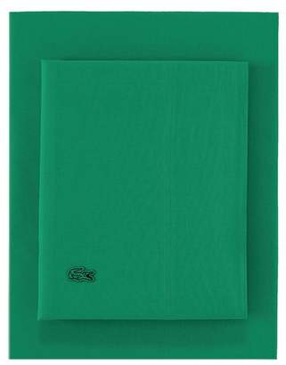 Lacoste Full Washed Percale Sheet Set - Green