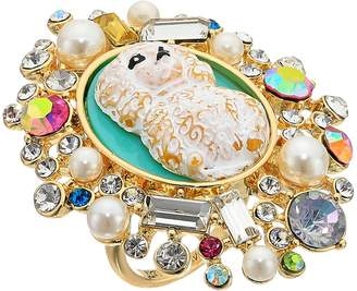 Betsey Johnson Poodle Cameo Ring Ring