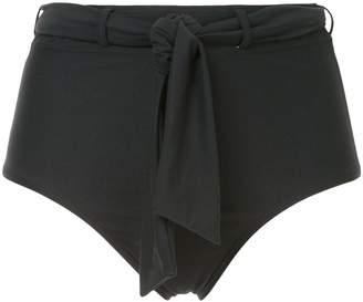 Peony tie belt hi waisted bikini bottoms