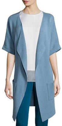 Neiman Marcus Unfinished-Hem Kimono Topper Jacket $225 thestylecure.com