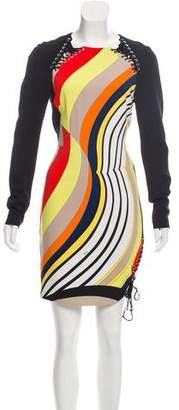 Emilio Pucci Abstract Lace-Up Dress