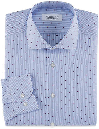 COLLECTION Collection by Michael Strahan Cotton Stretch Long Sleeve Dress Shirt