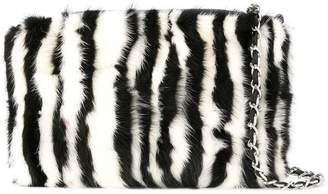 Loveless zebra fur shoulder bag
