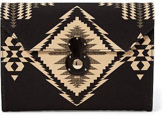 Ralph Lauren Geometric-Print Canvas Clutch $995 thestylecure.com